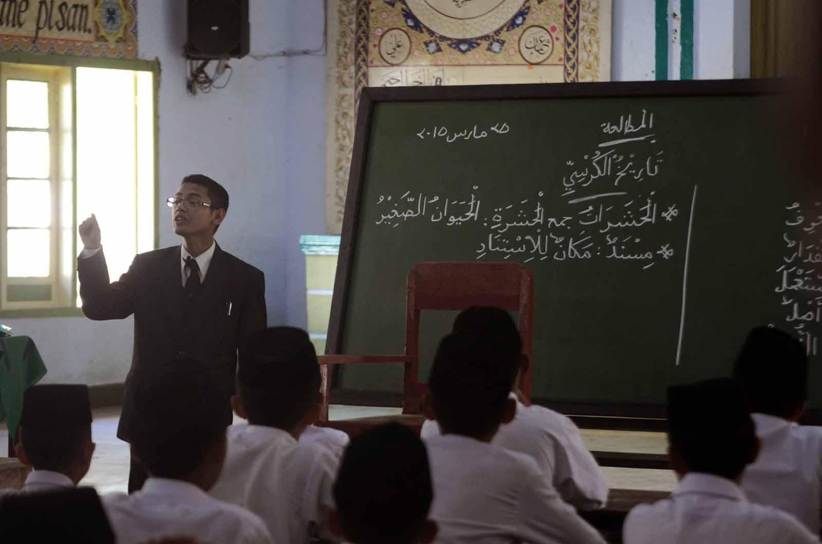 foto Micro teaching pondok gontor putra bahasa arab